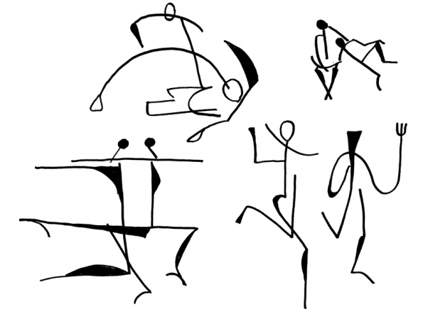 Stick figures for Summer Solstice 05 of 11